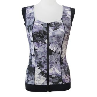 Fitness swimsuit sleeveless floral