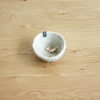 Musukan felt bowl S gray natural