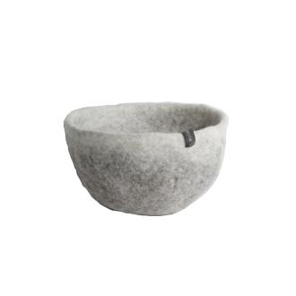 Musukan felt bowl M gray natural