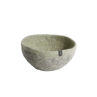 Musukan felt bowl M gray lemon