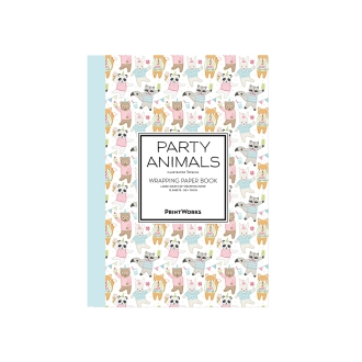 Wrapping paper book-type 12 pieces Party Animal