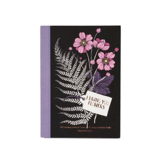 Post card set book-type 20 sheets Flower