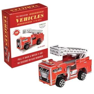 紙3D拼圖消防車