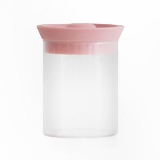 シリコンリットジャー ガラス M ピンク