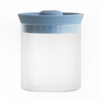 Silicon lid jar SILICON LID JAR glass L blue gray