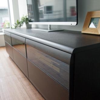 タモ材ブロンズガラスアールデザインシリーズ 幅150cm