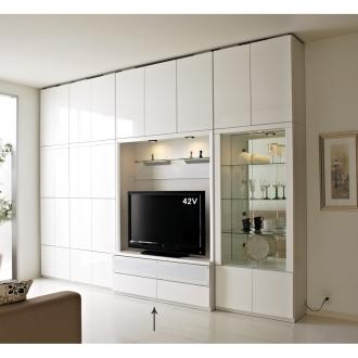 美しくディスプレイできるテレビ収納システム テレビボード 幅130cm【42・46インチ型液晶テレビ収納可能】