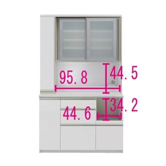 マンションサイズのオールインワン食器棚 幅120cm・高さ198cm [パモウナ IS-1200R]