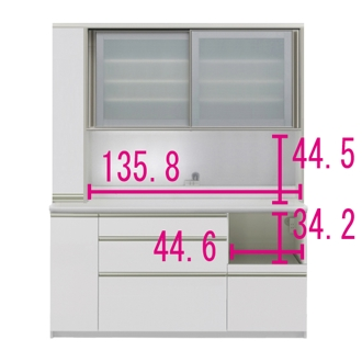 マンションサイズのオールインワン食器棚 幅160cm・高さ198cm [パモウナ IS-1600R]