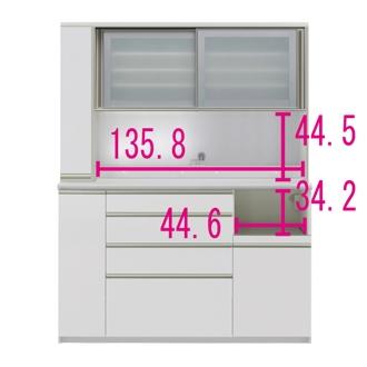 マンションサイズのオールインワン食器棚 幅160cm・高さ203cm [パモウナ MS-1600R]