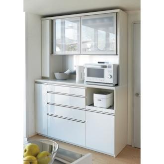 マンションサイズのオールインワン食器棚 幅160cm・高さ214cm [パモウナ OS-1600R]