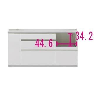 マンションサイズのオールインワンキッチンカウンター 幅160cm・高さ85cm [パモウナ IS-1600R下台]