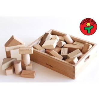 ディノス オンラインショップ寄木の積木(木箱入り)