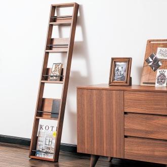 復古風格的美國胡桃木架雜誌架寬度30厘米