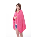 Micro fiber  The hooded Bath towel 2 color set