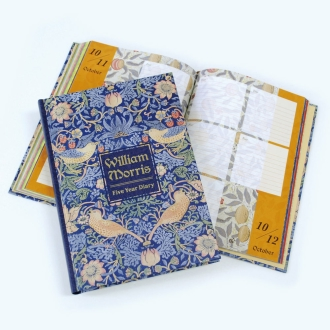 William Morris Strawberry Thief 5-year diary