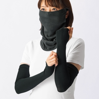 Silk use UV cut series 2WAY mask + arm cover