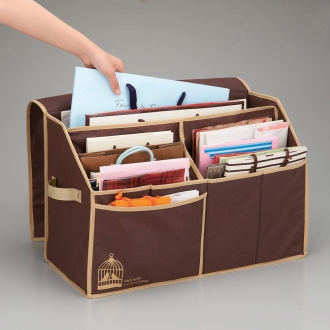Wide bag storage box