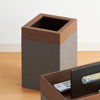 フェイクレザー収納シリーズ ダストボックス