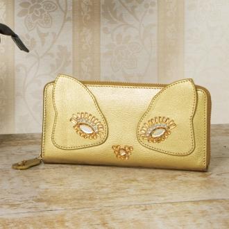 貓金蔥錢包
