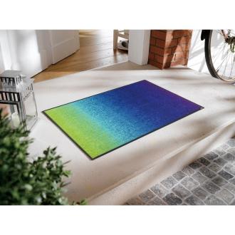 約50×75cm wash+dry玄関マット blue rainbow