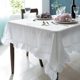 About 125 x 180 cm (FrenchLinen tablecloth)