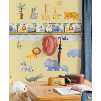 "YORK's wall decals (stickers) ""kids room"" jungle adventure"