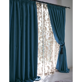 ディノス オンラインショップ幅60〜110x丈215cm(1枚)(ギャザースタイルカーテン)グレーベージュ