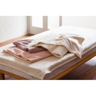 ディノス オンラインショップシルク毛布 お得な掛け&敷きセット ダブルセットアイボリー