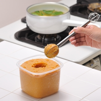Leye snake weighing miso muddler [kitchen tools cooking miso with measuring spoon]