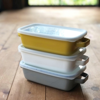 Enamel container enamel oven dish rectangle 1.0L can also cook