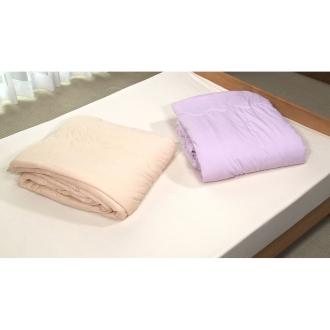 シングル シルク真綿のシフォンケットラベンダー