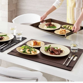 Large, 2-Pack (tray to become a luncheon mat)