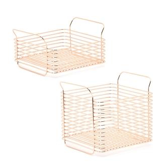 [L] Humming kitchen basket pink gold