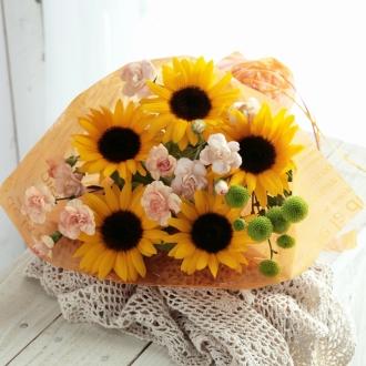 【母の日ギフト】花束「ビタミンカラーブーケ」