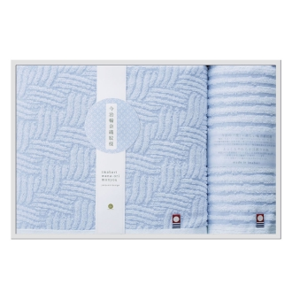 今治輪奈織紋様(いまばりわなおりもんよう) バスタオル1枚 ウォッシュタオル1枚 ギフトセット
