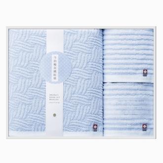 今治輪奈織紋様(いまばりわなおりもんよう) バスタオル1枚 ウォッシュタオル2枚 ギフトセット