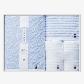 今治輪奈織紋様(いまばりわなおりもんよう) バスタオル1枚 フェイスタオル2枚 ウォッシュタオル1枚 ギフトセット