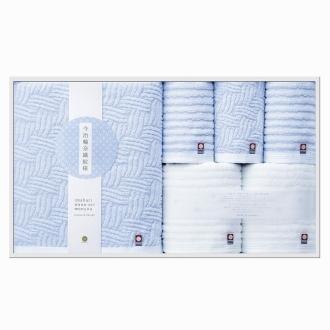 今治輪奈織紋様(いまばりわなおりもんよう) バスタオル1枚 フェイスタオル2枚 ウォッシュタオル3枚 ギフトセット