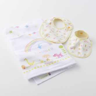 [Imabari Baby towel gift set (MAKE-FRIENDS) 3-piece set
