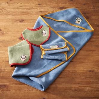 [Imabari Baby towel gift set (baby rosette) 4-piece set