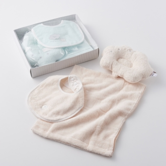 [Imabari] Baiyun baby towel gift set (baby pillow, towel-style)