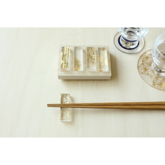 TOUMEI chopstick rest set foil