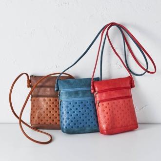 Polka dots thin gusset shoulder bag