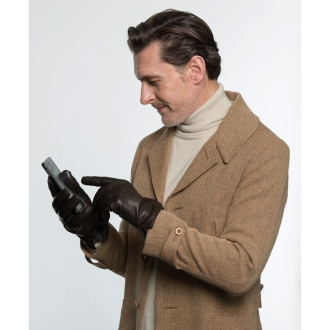 Made in Italy CARIDEI (Karidei) \ntouch panel corresponding leather gloves for men