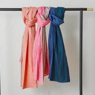 UCHINO / Uchino reversible marshmallow gauze scarf