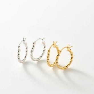 UNOAERRE / Unoaere K18 texture hoop earrings