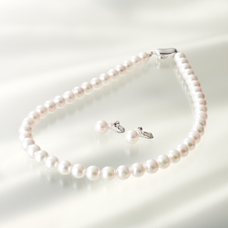 8 mm Akoya pearl necklace set