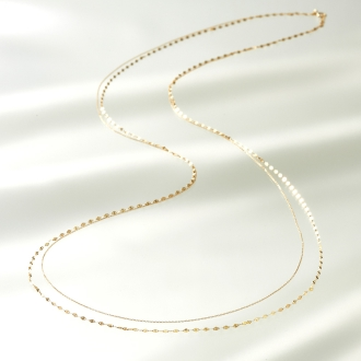 SOWI K10 2 consecutive long necklace