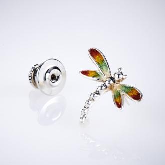 SATURNO / Satsuruno SV針胸針蜻蜓(意大利製造)